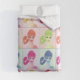 Pop art Vintage Barbie pattern Comforters
