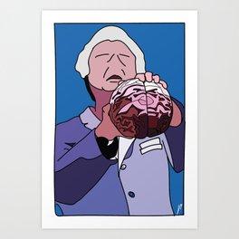 David's brain Art Print