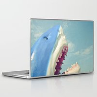 shark Laptop & iPad Skins featuring Shark! by Cassia Beck