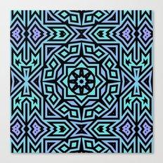 Aqua/Lilac/Black Tribal Pattern Canvas Print