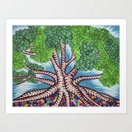 Tree of Life, Surreal Tree Painting Art Print