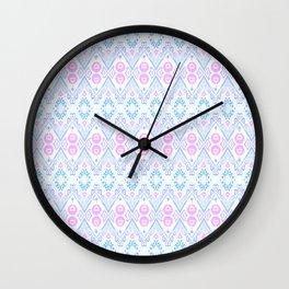 Ikat Java Pink Mini Wall Clock
