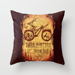Trailhunters Throw Pillow