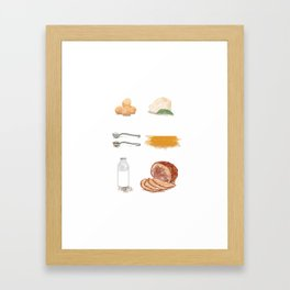 Carbonara Ingredients Framed Art Print