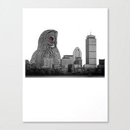 Killer Monster Owl Canvas Print