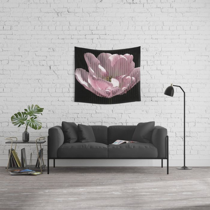 Tulip with gauze textured petals Wall Tapestry