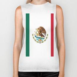 mexican sports fan mexico flag Biker Tank