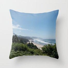 Californian Coastline Throw Pillow