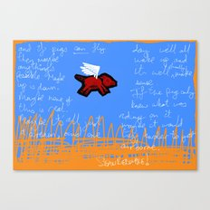 fly, little pig Canvas Print