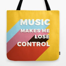 MUSIC MAKES ME - TYPOGRAPHY Tote Bag