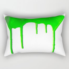 Green Splatter Rectangular Pillow
