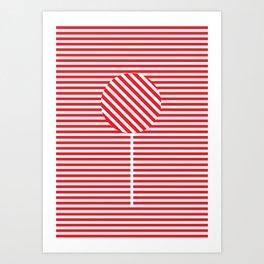 CANDY CANE Art Print