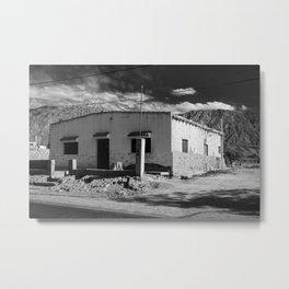 Adobe house #3 at Pocito, San Juan, Argentina Metal Print