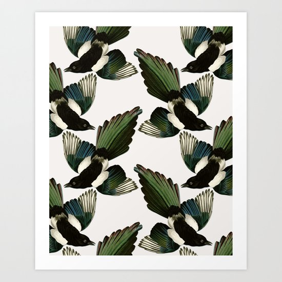 A Tiding Of Magpies Art Print