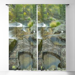 Natural pools in mountain river Blackout Curtain