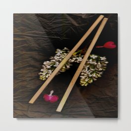 Chop Sticks Pattern Metal Print
