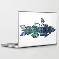 spaceship Laptop & iPad Skins featuring Spaceship  by Joseph Kennelty