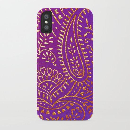 purple&gold iPhone Case