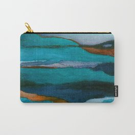 """""""a dark february redux1"""" abstract watercolor painting Carry-All Pouch"""
