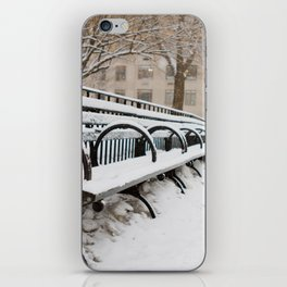 Snowing in Central Park iPhone Skin