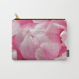 Glorious pink peony with dew drops floral photography Carry-All Pouch