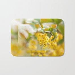 Berberis yellow flowering shrub Bath Mat