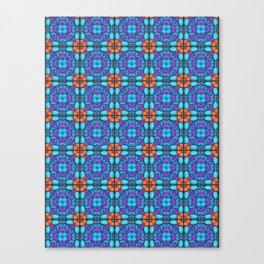 Southwestern Glass Tile Digital Art Canvas Print