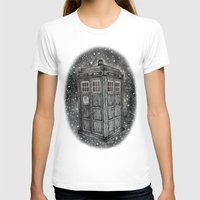 tardis T-shirts featuring Tardis by Elizabeth A