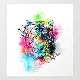 colorful tiger Art Print