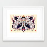 racoon Framed Art Prints featuring racoon by yoaz