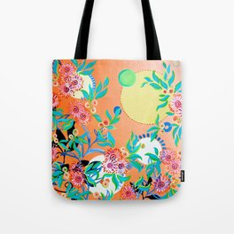 Sunset Gums - Abstract Floral Tote Bag