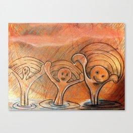 Rain Drop Brothers Canvas Print