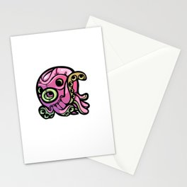 Pink Gorilla X Enfu Octopus Mech Stationery Cards