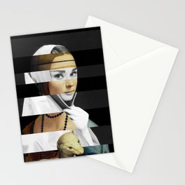 Leonardo da Vinci's Lady with a Ermine & Audrey Hepburn Stationery Cards