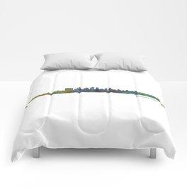 Beverly Hills City in LA City Skyline HQ v1 Comforters