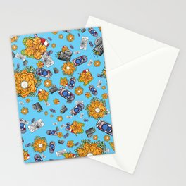 Dirtbag Staycation on Turquoise Stationery Cards