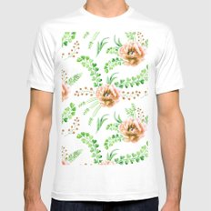 Forest Meadow Love Mens Fitted Tee MEDIUM White