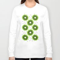 kiwi Long Sleeve T-shirts featuring Kiwi by beach please