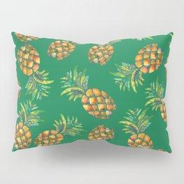 Pineapple Pattern Green Pillow Sham