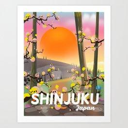 Shinjuku Japan garden Art Print