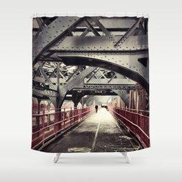 New York City Williamsburg Bridge Shower Curtain