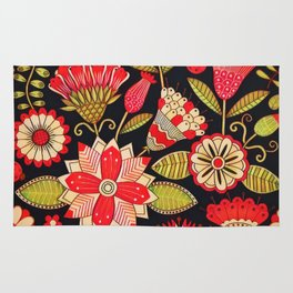 Blooms Butterflies and Ladybugs Rug