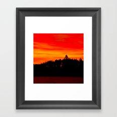 Red Sky At Forest  Framed Art Print