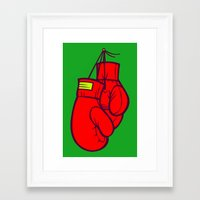 boxing Framed Art Prints featuring Boxing Gloves by Artistic Dyslexia