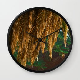 Abstract Canopy Of Evergreen Wall Clock