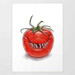 Toothy Tomato Art Print