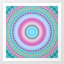 Spring Garden Mandala Art Print