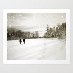 Walking Through Winter Art Print
