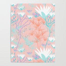 Lotus + Papyrus Garden Poster