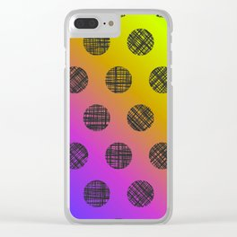 DP037-3 rainbow dotted Clear iPhone Case